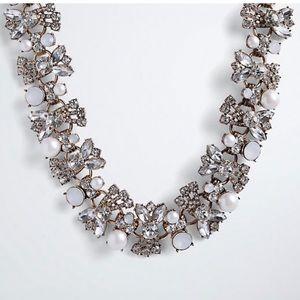 Torrid faux pearl gemstone statement necklace